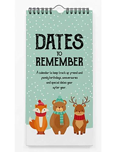 Inkdotpot Winter Wonderland Animales Calendario Perpetuo Colgar En La Pared Aniversario Evento Especial Recordatorio Calendario Libro Diario Colgar En La Pared De Tarjetas De Regalo De Cumpleaños