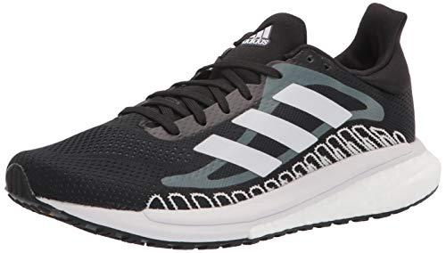 adidas Women's Solar Glide ST Running Shoe, Black/Black/Black, 10