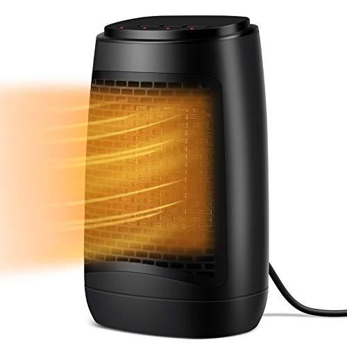 SUMKUMY Calefactor Baño Eléctrico, Portátil Mini Calefactor Baño PTC Cerámica, 3 Modos,...