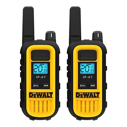 DEWALT DXFRS300 1 Watt Heavy Duty Walkie Talkies - Waterproof,...