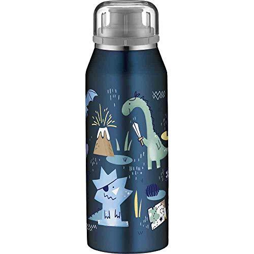 alfi Thermosflasche für Kinder 350ml, isoBottle Piraten, Thermosflasche, Edelstahl Isolierflasche dicht, Wasserflasche 5677.203.035, Kinderflasche 12 Stunden heiß, 24 Stunden kalt, BPA Frei