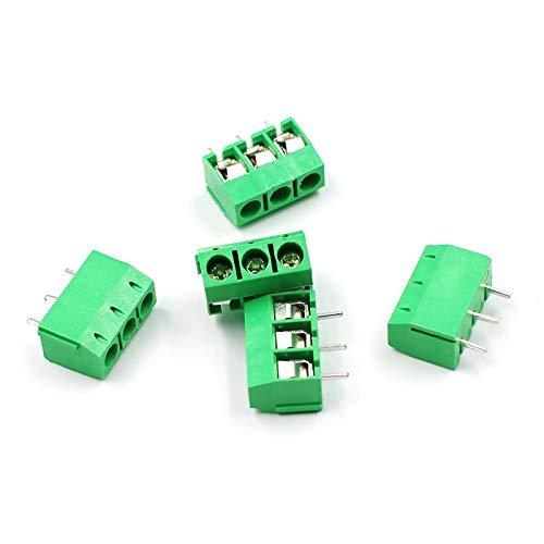 youyu6-2o521 Kit de Conectores de Encogimiento de Calor KF301-5.0MM 2P KF301-3P Pitch 5.0mm Alfiler 2P 3P Terminal roscado PCB Bloque Conector Azul Verde Terminales de Tierra (Color : Green 3P)