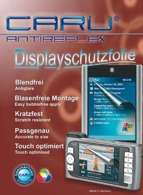CARU Antireflex Displayschutz, keine Blasenbildung, kratzfest bis Bleistifthärte 3H, UV beständig, entspiegelt, passgenau für Palm m505