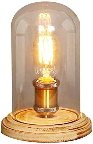 Injuicy – Lámpara de escritorio de tubo, estilo retro industrial tipo steampunk, con casquillo Edison E27, de hierro forjado y cuerda de cáñamo, #F