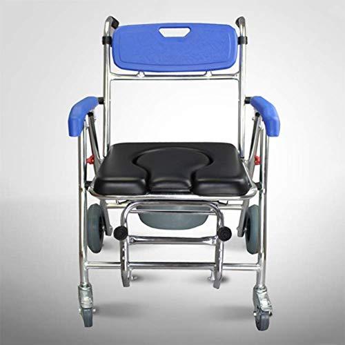 Yhtech Silla de rehabilitación médica, silla de ruedas, silla de ruedas plegable de peso ligero de conducción médica, de niños Fractura de plástico, Baño Silla de ruedas, silla de ruedas embarazada Mu