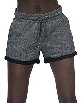 icyzone Workout Lounge Shorts for Women - Athletic Running Jogging Cotton Sweat Shorts (M, Charcoal)