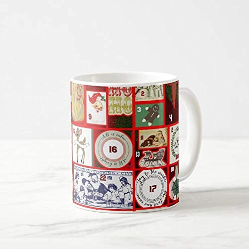 Koffiemok, 11 oz Thee Cup, Kerst Adventskalender Vakantie Winter Grafische Koffie Mok