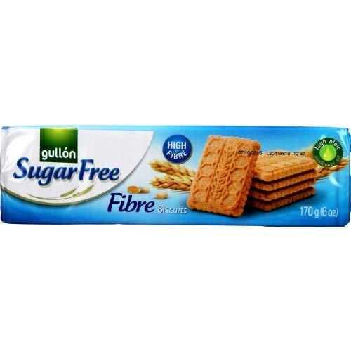Gullon Galletas de fibra sin azúcar 170 g (paquete de 4