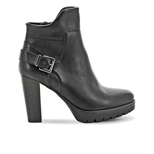 QUEEN HELENA QH18555 Ankle Boots Tronchetti Stivaletti con Tacco Donna Nero 39 EU