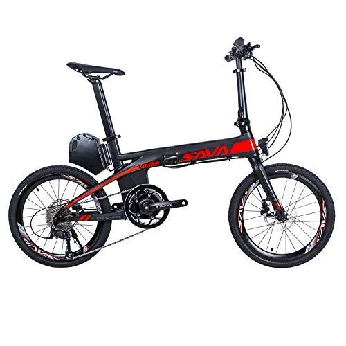 """SKNIGHT E-Bike Faltrad E-Faltrad, E8 20\"""" Zoll Carbon Elektro-Faltrad Samsung Li-Ionen Akku (36V 8,7AH),200W Shimano SORA 9 Gänge Pedelec"""