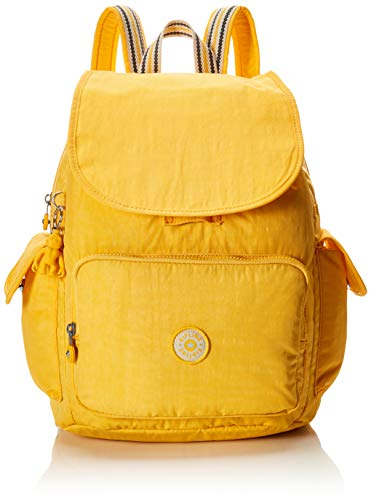 Kipling Women's City Pack Medium Backpack, vivid yellow, One Size