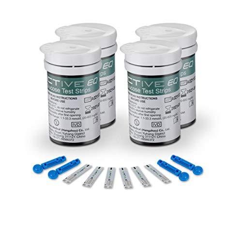 Medidor de glucosa en sangre tiras de prueba reemplazo por Exactive EQ Impulse diabetes strips codefree tiras reactivas de glucosa en sangre x 100 para ES diabéticos