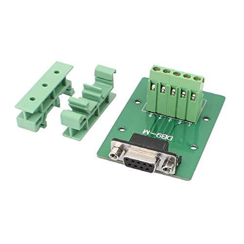 New Lon0167 DB9 9Pin Adaptador Hembra Placa Dual 5 Posiciones RS232 Serie a Terminal Módulo de Señal(DB9-9Pin - Adapterplatte Dual - 5 - Positionen - RS232 - Signalmodul mit serieller Schnittstelle