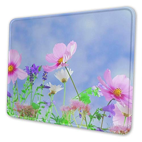 Mouse Pad, Sky,Sunlight, Universe, Flower, Purple, Petals 10 X 12 Inch Mouse Mats Dual Stitched Edges Ultra Soft Mousepad for Computer Office Gaming Laptop