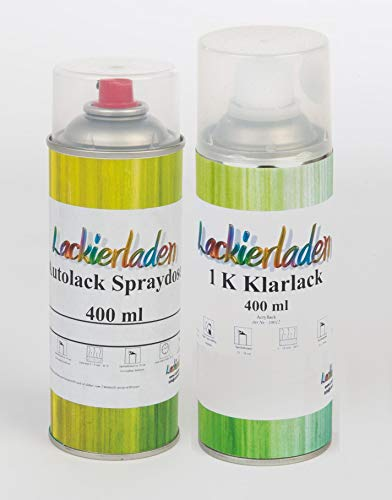 Lackierladen Autolack im Spraydosen Set 2 x 400 ml Hyundai YU6 Bluespirit