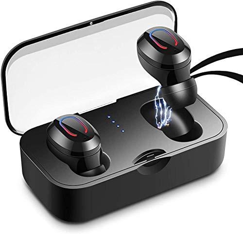 Auriculares inalámbricos Bluetooth 5.0 Auriculares TWS Auriculares Deportivos con Auriculares y Estuche de Carga portátil Auriculares con cancelación de Ruido 3D IPX7 Micrófono Incorporado resi