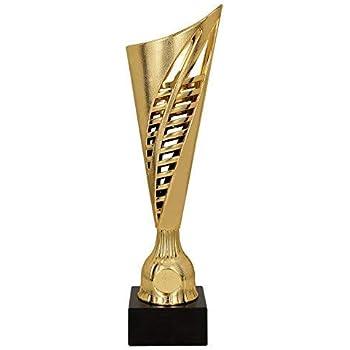 Interno Blu H 29,50 cm Targhetta Personalizzata Omaggio Premiazioni Sportive Trofeo tecnocoppe Coppa in ABS Dorato e Decoro Traforato