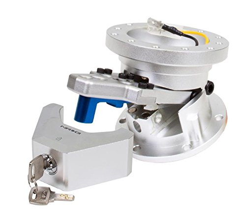 NRG Innovations, SRT-100SL, Steering Wheel Hub Adapter Adjustable Silver Quick Angle Tilt Sytem with Lock SRT-100BK