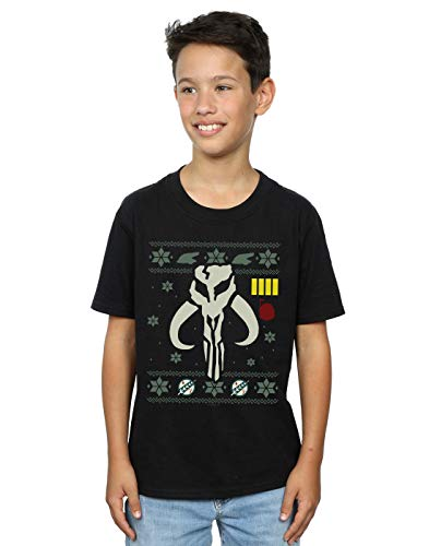 Star Wars Niños Christmas Bantha Skull Camiseta Negro 5-6 Years