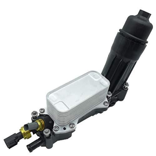 Price comparison product image TIKSCIENCE Engine Oil Filter Adapter Housing, Oil Cooler for 2014-2017 Jeep Dodge Chrysler Ram 3.6 V6, Replace 68105583AF