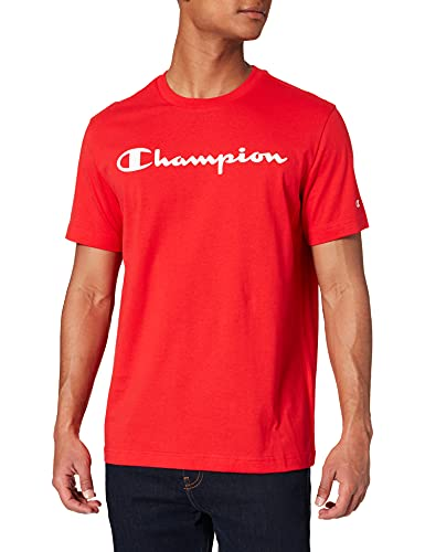 Champion Legacy Classic Logo T-Shirt, Rosso, XXL Uomo