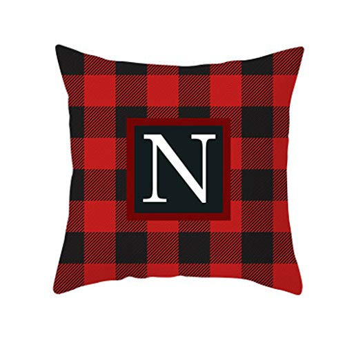 Home Decor Cushion Cover Christmas Print Pillowcase Throw Pillow Coversecor, Xmas Pillowcase Cartoon Santa Claus Series Office Sofa Cushion Pillowcase, Multicolor