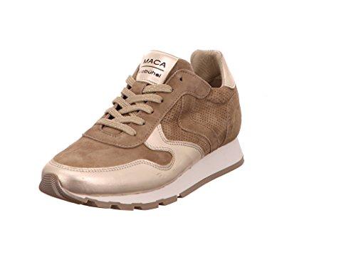 Maca Kitzbühel Damen Sneaker 2204 Fango LightGold Gold 412280