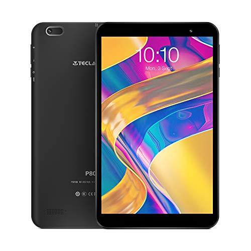 TECLAST P80h 8 inch Android 10.0 Tablet, Quad-Core A7 Processor, 2GB RAM 32GB ROM, HD IPS 6mm Narrow Bezel Display, 2MP Rear Cam, 2.4G Wi-Fi, Bluetooth 4.2, Type-C, GPS, OTG, Support 128GB TF Expand