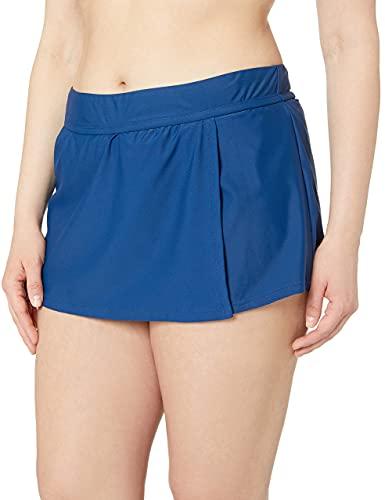 Catalina Women's Swim Plus-Size Skirted Bikini Swim Bottom Swimsuit, Navy,...