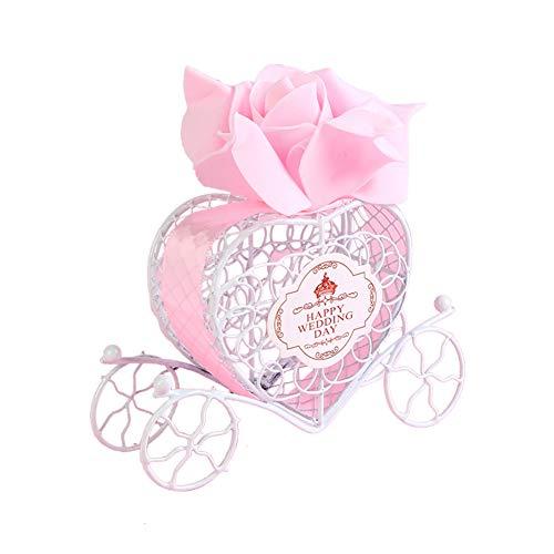Redcolourful romantische ijzeren koetsjes-snoepjes-chocolade-box voor bruiloftsfeest-huisdecoratie