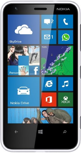 Nokia Lumia 620 Smartphone (9,7 cm (3,8 Zoll) Touchscreen, Snapdragon S4, Dual-Core, 1GHz, 512MB RAM, 5 Megapixel Kamera, Win 8, micro SIM) matt-weiß