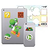 Super Mario, 6 Pack, Yoshi Tech Decals, Waterproof Stickers for Phone, Laptop, Water Bottle, Skateboard, Vinyl Stickers for Boys and Girls