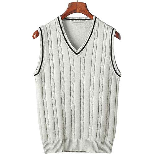 Solarphoenix Lente Gebreide Tanks voor heren V-hals Mouwloze Truien Mannelijk Slim Breien Katoen Vest