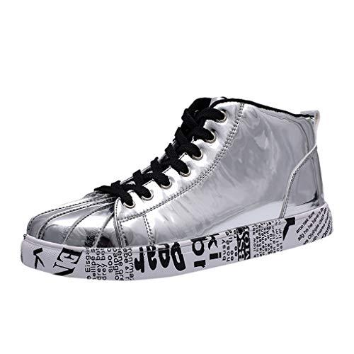 Kaister Herren mode Schuhe Paare High Top lackiert Leder Mode Sneakers Schuhe Unisex Sportschuhe Outdoor Leichtgewichts shoes