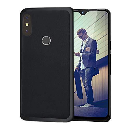 handyprince Kompatibel mit Gigaset GS290 Hülle, Hülle Cover Bumper Tasche Schwarz Black & Bildschirmschutz aus Glas(Schwarz)