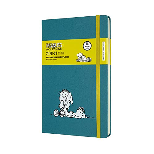 Moleskine - Agenda Settimanale 18 Mesi Peanuts, Agenda Settimanale 2020/2021, Weekly Planner in Edizione Limitata, Tema Snoopy e Linus, Copertina Rigida, Formato Large 13 x 21 cm, 208 Pagine