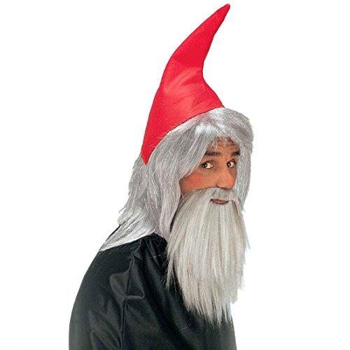 Zwerg Set rot Zwergenmütze mit Bart Verkleidung für Zwerge Trolle Wichtel Gnome Gartenzwerg Mütze mit Vollbart Märchen Fantasy Elfen Set Fasching Weihnachten Halloween Party Karneval Kostüm Zubehör