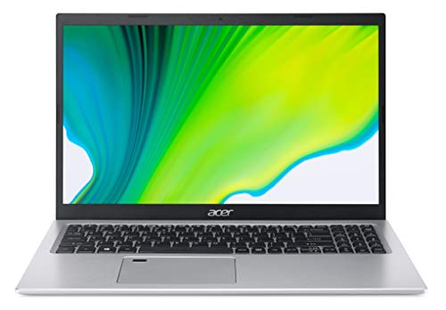 "Acer Aspire 5 Slim, 15.6"" FHD, Ci5-1135G7, 8GB RAM, 512GB SSD,Intel Iris, Windows 10, Silver, A515-56-55CT"