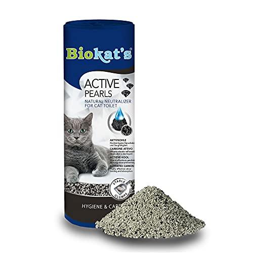 Biokat's Active Pearls - Complemento lettiera con carbone attivo, migliora la cattura e l'assorbimento degli odori della lettiera - 1 scatoletta (1 x 700 ml)