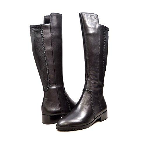 SoleMani Zipora 13' Slim Calf Women's Black Leather Boot 8.5