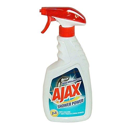 Set 10 Ajax Dusche Trigger 600 ml. Shower Power Reinigungsmittel Haus