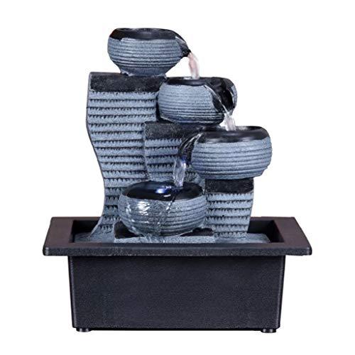 Hogar y Cocina Fuentes de Interior Resina Fuente de Interior Fuente de la Cascada de Feng Shui de Escritorio Tabla Waterscape Adornos Crafts decoración del hogar Accesorios Tabla (tamaño : Large)