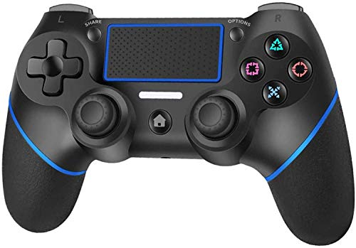 PS4 Controller, Wireless Controller Gamepad for Playstation 4/Pro/Slim with Audio Function, Dual Vibration, Touchpad, Mini LED Indicator