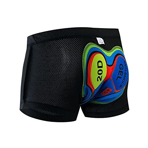 Ropa interior de ciclismo acolchada para hombres y mujeres, pantalones cortos de bicicleta MTB ligeros, de secado rápido adsorbente Bicicletas Ciclismo Undershorts, Color 02, S/3XL
