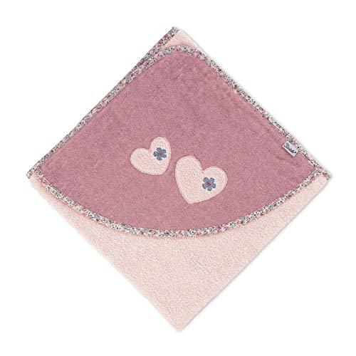 Sterntaler Kapuzenbadetuch Maus Mabel, Alter: ab 0 Monate, 100 x 100 cm, Zartrosa