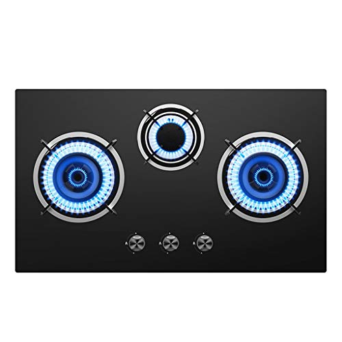 gas cooktop 31 Inch Gas Hob Stovetop 3 Burners LPG/NG Dual Fuel 5 Sealed...