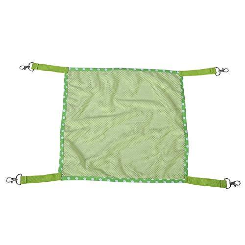 Huisdier kooi Mesh Hangmat, Ademend Mesh Doek Hangend Bed Gebruik met Kat IJzeren Kooi en Stoel voor Kleine Honden of Katten Green S