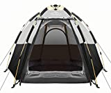 Toogh 2-3-4 Person Camping Tent Backpacking Tents Hexagon Waterproof Dome Automatic Pop-Up Outdoor Sports Tent Camping Sun Shelters Provide Top Rainfly, Advanced Venting Design (2021 Update)