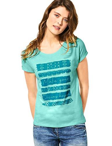 Cecil Damen 314972 T-Shirt, Light Molecule Mint Green, XX-Large