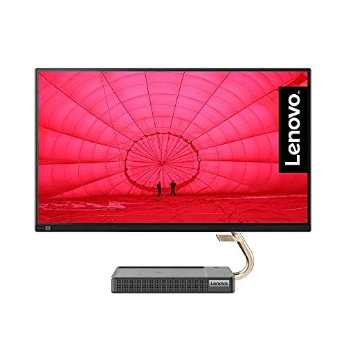 Lenovo IdeaCentre AIO 5 60,45 cm (23,8 Zoll, 1920x1080, Full HD, WideView, entspiegelt) All-in-One Desktop-PC (AMD Ryzen 7 5700U, 16GB RAM, 512GB SSD, AMD Radeon Grafik, Windows 10 Home) grau